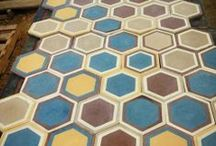 Hexagon Collection  / Unique cement tiles, handmade for special places and exquisite taste. http://www.tsourlakistiles.gr https://www.facebook.com/tsourlakistiles