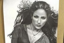 Drawing Progress Jennifer Lopez / step by step