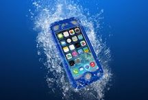 Vault Plus / The Naztech Vault Plus features an innovative Touch ID compatible finger scanner that allows seamless fingerprint sensing through the waterproof layer and an ultra-slim, non-slip grip rugged structure with durable built-in kickstand. This tight-sealed waterproof case can travel up to 16 feet underwater! / by Naztech