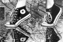 """Realistic pencil drawing : completed - """"shoes in the rain"""" / art by #michaelx 