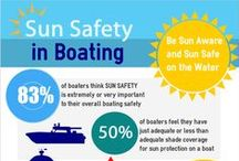 Sun Safe Boating / Sun Safe Boating is the Sensible Way to Boat. Tips for sun protection and sun safety on boats #sunsafety #boats #boating