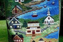 Pintar con telas y aguja