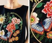 fashion I stickerei + patches / style outfit mode kleidung I minimalsitisch weiblich romantisch casual pur I spitze perlen patches print applikation embroidery I natur nature tiere animal blumen flowers