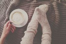 Mood: All Things Cozy / Chunky sweaters, roaring fires, hot beverages... everything you want on those crisp, chilled days
