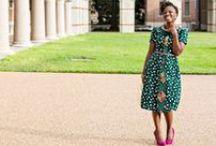 Polka dot African print dress. / Polka dot African print dress. Get your ada dress at adakwube.com
