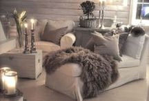 Comfy and Tres' Chic / Comfortable, chic seating for resting, reading, and relaxing!