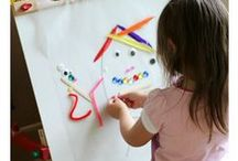 Toddler Arts & Crafts / toddler art, childrens' art, art for kids, toddler activities