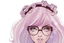 Pastel Goth / Pastels, black cats, bows, black lipstick... Need I say more?