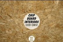 Chipboard Interiors / There's no material quite as distinctive as the glued wood with multiple names: chipboard, smartply, particle board, or oriented strand board (OSB).   http://homeartyhome.com/osb-omg-chipboard-interiors/