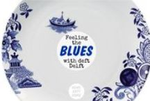 Feeling the Blues / Indigo, Navy, Delft, and Royal - crisp blues with white for enduringly stylish interiors