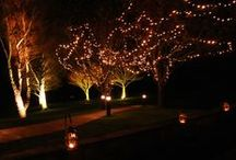 Outside Lighting & Decoration / Ideas for dressing outside areas for weddings, parties and events. With the exception of the inspiration images, all images are our own.