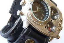 Leather Cuff, Watch Cuff, Men's Leather Watch / Leather Cuff, Watch Cuff, Men's Leather Watch, Vintage style Wrist Watch, Bracelet watch