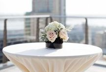 Inspiration for Poseur / Cocktail Tables / Inspiration for dressing Poseur tables for events and weddings