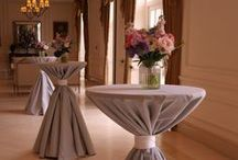 Ideas for Poseur / Cocktail Tables / Examples of Poseur / Cocktail table decoration at weddings and events by Stressfreehire #venuetransformers