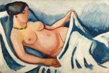 August Macke / August Macke, né le 3 janvier 1887 à Meschede, mort le 26 septembre 1914 à Perthes-lès-Hurlus, est un peintre expressionniste allemand. Il est le fils d'August Friedrich Hermann Macke, un ingénieur des ponts et chaussées, et de Maria Florentine