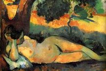Henri Manguin / Henri Charles Manguin, est un peintre français, né à Paris le 23 mars 1874, et mort à Saint-Tropez le 25 septembre 1949.  Il est l'un des principaux créateurs du fauvisme français en 1905.