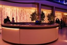Ideas for Bar Areas / Ideas and examples of decorations and bar area set ups by Stressfreehire.
