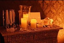 Ideas for using Battery Candles and Silk Flames / Ideas and examples of decorations by Stressfreehire using battery candles and silk flames