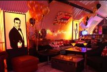 Ideas for James Bond Themed events / Ideas and examples of decorations by Stressfreehire for events with a James Bond theme.