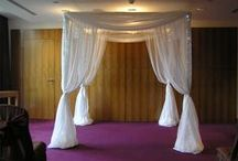 Ideas for Using Canopies & Chuppahs / Ideas and examples of decorations by Stressfreehire using canopies and Chuppahs