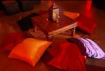 Ideas for Chill-Out Areas / Ideas and examples of chill out areas created by Stressfreehire at a range of events and weddings.