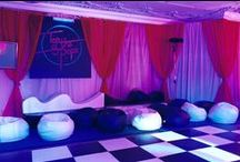 Ideas for Disco Themed Events / Ideas and examples of decorations by Stressfreehire for events with a disco theme.