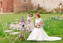 Ideas for Garden Parties / Ideas and examples of decorations by Stressfreehire for garden parties and events.