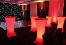 Ideas for Using Illuminated Decorations / Ideas and examples of decorations by Stressfreehire using illumination at various events and venues across the UK.