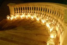 Ideas for using Lanterns and Votives / Ideas and examples of decorations by Stressfreehire using lanterns and votives at a range of weddings and events across the UK.