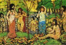 Maurice Prendergast / Maurice Brazil Prendergast (10 octobre 1858-1er février 1924) était un aquarelliste américain postimpressionniste. Il appartenait, sur le plan technique, à l'École d'Ashcan mais ses compositions délicates n'avaient rien en commun avec la philosophie de ce groupe.