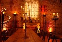 Ideas for Medieval or Gothic themed events / Ideas and examples of theming and decoration for weddings and events with a Medieval / Gothic theme by Stressfreehire