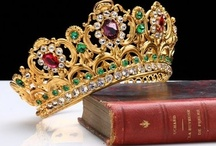 Diamonds, Crystals, Jewels and Costumes / Crowns, Tiaras, Rings, and so on for King and Queen or Prince and Princess, Crystal Chandelier, Castles