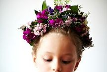 Girls with flower head dress