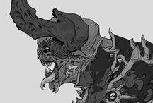 creatures, monsters, beasts