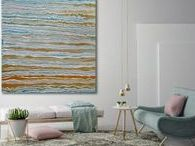 Kelly Richards - Abstract / Peaceful and serene, Kelly's paintings are made with tasteful interiors in mind.