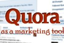 2.1 QUORA / All boards within the number 2 series are about social media. The 2.1 order are the different social media platforms alphabetized. This board: Quora (forum platform) / by cranzine