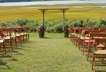 Outdoor Wedding Ceremonies / Outdoor wedding ceremonies are popular on the North Fork and in the Hamptons, and can range from late spring to early fall.