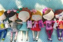Fabric dolls / Ideas for #diy, unique, #handmade, #tutorial, #patterns for making cut dolls