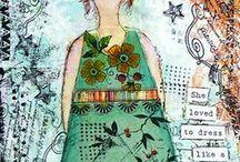 Mixed media art. Projects-ideas-artists-diy