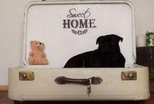 Hundebett Hundesofa Shabby Vintage Koffer / Hundebett Koffer Shabby Vintage