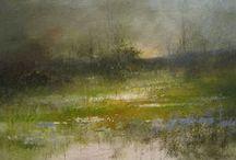 art.landscape / A work of art is a corner of nature seen through a temperament.~ Vincent van Gogh / by Lori Gordon