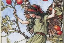 "Flower Fairies / By Cicely Mary Barker. ""Come Fairies, take me out of this dull world, for I would ride with you upon the wind and dance upon the mountains like a flame!"".... William Butler Yeats"
