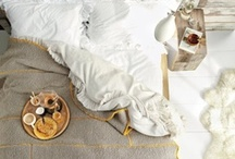 breakfast in bed / There is no such thing as too much breakfast in bed... nothing is cozier than staying warm between the sheets and ordering room service or being treated.