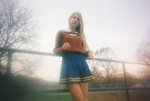 Fall Vibes / A psychedelic Margot Tenenbaum-- in orange plaid.