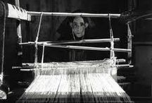 "Weaving: 4 Shafts / ""A weaver who has to direct and to interweave a great many little threads has no time to philosophize about it, rather, he is so absorbed in his work that he doesn't think, he acts: and it's nothing he can explain, he just feels how things should go."" ~Vincent van Gogh"