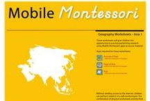 """Mobile Montessori Worksheets / Free printable worksheets for children to perform """"research"""" using Mobile Montessori apps as source material!"""