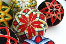 "Temari / Temari (in Japanese writing,てまり) - ""te"" means hand, and ""mari"" means ball - is an ancient folk art form. Temari balls are a traditional Japanese gift, given for good luck in the new year."