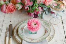 Wedding Mood Board ~ Floral and Vintage / Floral and Vintage Themed Wedding Mood Board Inspiration