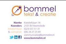 visitekaartjes / Een kleine greep uit de visitekaartjes die Bommel tekst & creatie heeft gemaakt.
