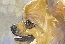 Dibujos y Pinturas de Mascotas / by Saúl García Gil